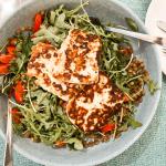 Lentil and Halloumi Salad