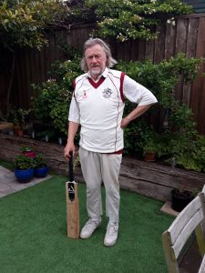 Ashley Brown from the Cambs and Hunts over 70s cricket team